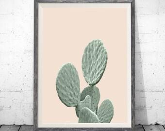 Printable Cactus Art, Beige Print, Cactus Print, Modern Art, Digital Download, Cactus Printable Wall Decor, Modern Art Print, Cacti Print