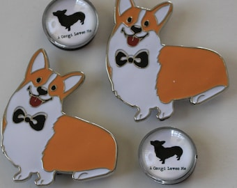 Set of 4 Pembroke Welsh Corgi Magnets