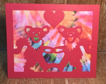 Grateful Dead Dancing Bear Happy Birthday Card