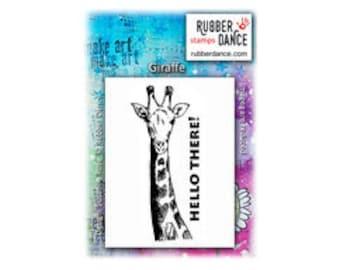 Animal Stamp, Giraffe, Rubber Dance Stamp, Rubber Stamp