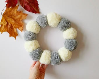 Full pom pom wreath