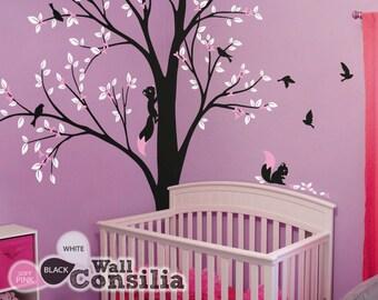 Baum Wand Aufkleber   Kinderzimmer Dekoration   Baum Wand Aufkleber   Ecke  Baum Aufkleber   Set Von Zwei Bäumen   KC026
