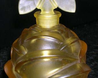 FRENCH  BUTTERFLY & ROSE Perfume Bottle