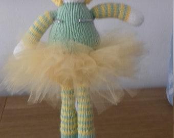 Beautiful Ballerina Doll Hand Knitted