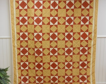Elegant Simplicity.   Diamond in a Square Quilt.   Never Used.   With Provenance.