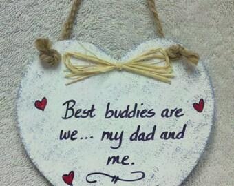 Dad Heart Plaque