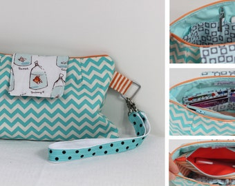 All in One handbag and clutch pattern