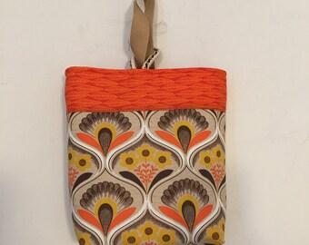 Yellow Poppies Handmade Craft / Knitting Bag
