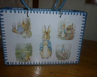Retro style bag with Peter Rabbit images just like made in the 50-60's.