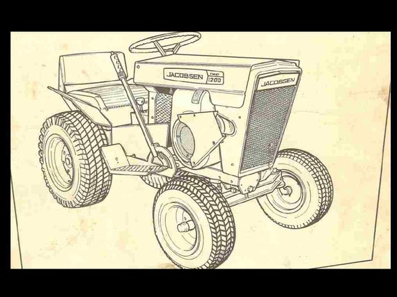 jacobsen tractor operationss and parts manuals 90pgs for 800 rh etsy com EZ Go Golf Cart Wiring Diagram Utility Cart