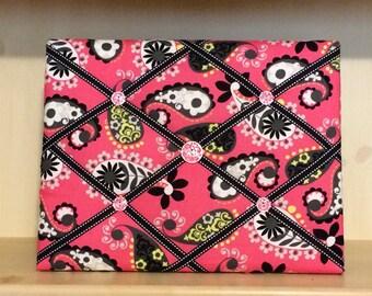 Pink Paisley Memory Board