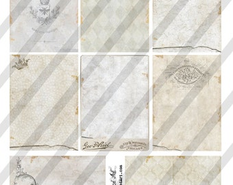 Digital Collage Sheet Victorian White Background Images (Sheet no. O204) Instant Download
