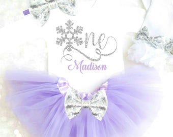 Winter Onederland Birthday Outfit Winter Wonderland Birthday Outfit Snowflake Birthday Outfit Winter Cake Smash Outfit Purple Snow Flake 22