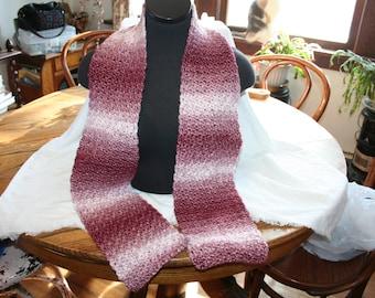 Handmade, Crocheted Scarf, Variegated