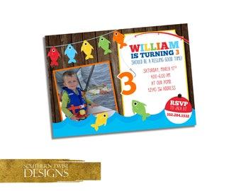 Fishing Birthday Invitation - Fishing Photo Birthday Invitation - Fishing Invitation for Birthday - Fishing Invitation for Birthday Boy
