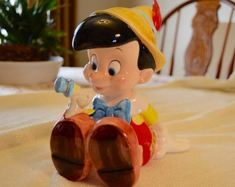 "Disney's Pinocchio and Jiminy Cricket Music Box Made in Sri Lanka by Schmid Plays ""When You Wish Upon a Star"""