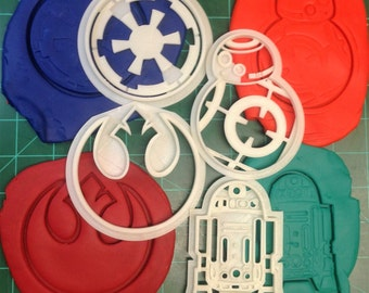 Star Wars Cookie Cutters BB8 - R2 D2 - Alliance - Galactic Empire