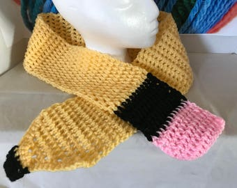 Number 2 pencil scarf
