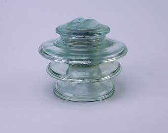Italian pale blue/green electric insulator