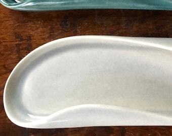 Celery Tray, Granite Grey Russel Wright American Modern by Steubenville Pottery