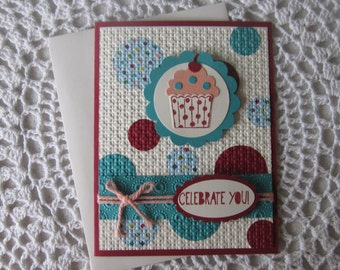 "Handmade Greeting Card: Happy Birthday/""Celebrate You"""