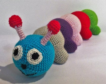 MADE TO ORDER, Amigurumi Caterpillar, Crochet Caterpillar, Caterpillar Plushie, Stuffed Toy, Gift, Amigurumi Toy, Crochet Toy, Handmade Toy