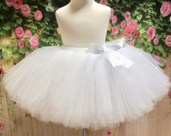 White Tulle Skirt, Adult White Tutu, Tulle Skirt, Sewn Tutu, White Tutu, Bridesmaid Tutu, Sewn Tulle Skirt, Adult Tutu, Adult Birthday Tutu