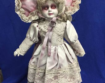 "Creepy-Ass Dolls! ""Pink Eyed Penny"" Halloween collector art doll"