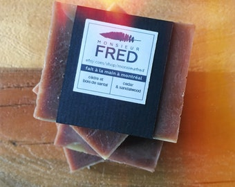 Cedar & sandalwood soap