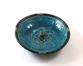 Weihrauch-Brenner Lotus handgemachte Keramik