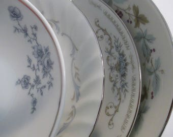 Vintage Mismatched China Dessert / Fruit Bowls for Christmas, Thanksgiving, Tea Party, Bridal Luncheons, Shower, Bridesmaid Gift- Set of 4