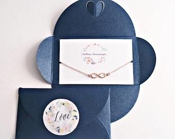 Maid of honor gift, bridesmaid bracelet