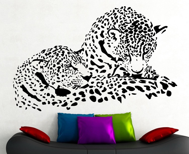 Jaguar Wall Decal Wild Animal Vinyl Sticker Art Kids Room