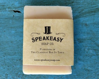 Jasmine, Bergamot & Sweet Orange Speakeasy Soap, jasmine soap, vegan, handmade soap, olive oil soap
