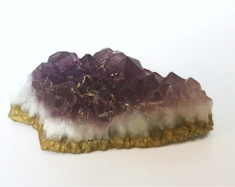 Amethyst and Gold Quartz Crystal Soap - Choose your Scent