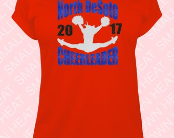 Cheer Shirts - Youth or Adult - Glitter, Regular or Holographic Vinyl