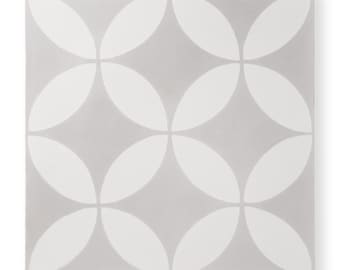 Cement Tile - Pattern: Circulos Grey