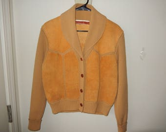 Leather and Knit Jacket - Early 1990's