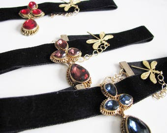 velvet choker, black velvet choker, black choker, choker necklace, velvet, black velvet, gothic choker, chokers, gothic necklace