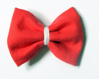 Hair clip red rose bow