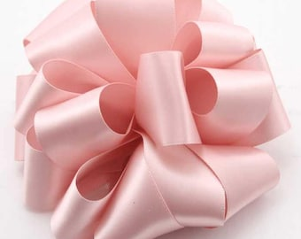 "New 1 yard Double Faced Pink Blush Satin Ribbon 7/8"" wide, Blush  Ribbon, Blush Ribbon for Favors"