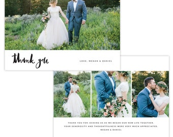 INSTANT DOWNLOAD - Thank You Photo Card Photoshop template - E1341