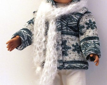 Teal Snowflake Sweater Outfit