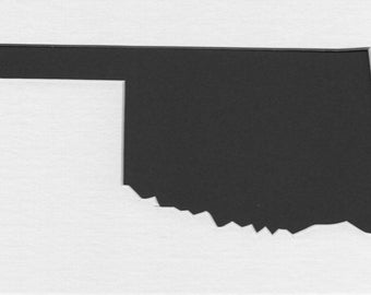 Pack of 3 Oklahoma State Stencils,Made from 4 Ply Mat Board 16x20, 11x14 and 8x10 -Package includes One of Each Size