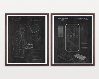 Apple Patent - Computer Patent - iphone Patent - ipad patent- Steve Jobs - Steve Jobs Patent - Mac - Apple Poster - Computer Poster - Mac