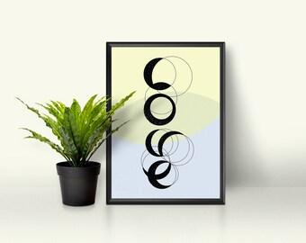 Typography wall art print, love wall art, modern wall art print, love wall decor, typography wall decor, typography print, typography art