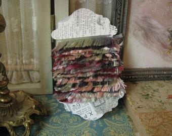 Romantic Multi Colored Eyelash Trim Yarn Scrapbook Junk Journal Mini Album Supplies