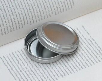 50ml Metal Tins, Blank Round Tin Boxes, Press To Open Tin Box, Small DIY Storage Box, 12 Tin Boxes