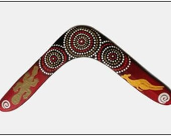 """boomerang """"Close families"""" design. This is 1 of the 5 designs I paint, all about Family. see my shop"""
