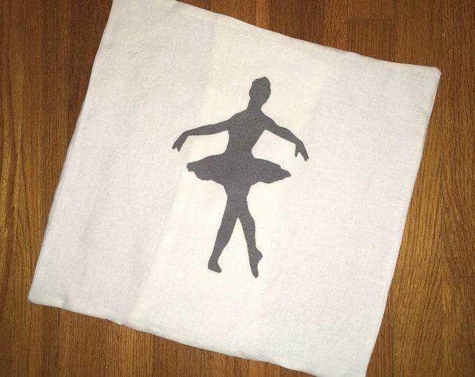 100% French Linen Ballerina Ballet Pillow Cover Farmhouse Pillow 16x16 Pillow Cover Wedding Gift Valentine